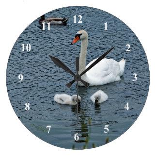 Relógio Grande Pulso de disparo da cisne muda 444