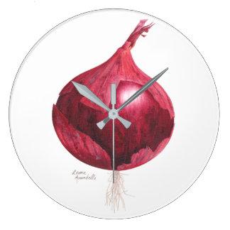Relógio Grande Pulso de disparo da cozinha da cebola vermelha
