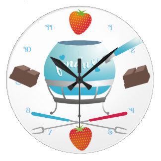 Relógio Grande Pulso de disparo da cozinha das morangos do