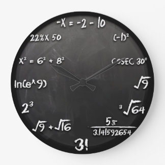 Relógio Grande Pulso de disparo da equação dos Maths (preto)
