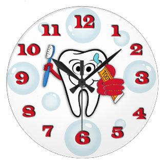 Relógio Grande Pulso de disparo da escova de dentes