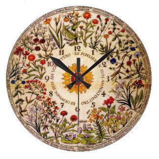 Relógio Grande Pulso de disparo da flor de Blumenuhr
