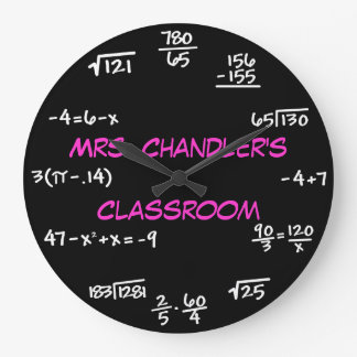 Relógio Grande Pulso de disparo da matemática do quadro da sala