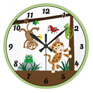 Relógio Grande Pulso de disparo da selva da floresta húmida
