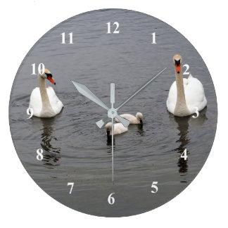 Relógio Grande Pulso de disparo das cisnes 416