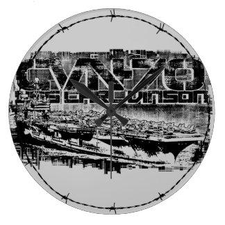 Relógio Grande Pulso de disparo de parede acrílico de Carl Vinson