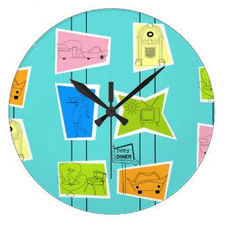 Relógio Grande Pulso de disparo de parede acrílico do kitsch