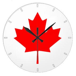 Relógio Grande Pulso de disparo de parede canadense da folha de