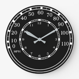 Relógio Grande Pulso de disparo de parede clássico preto da