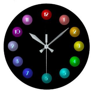 Relógio Grande Pulso de disparo de parede colorido das bolas