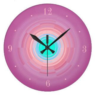 Relógio Grande Pulso de disparo de parede cor-de-rosa empoeirado