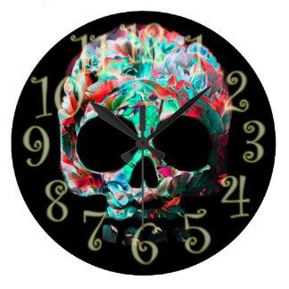 Relógio Grande Pulso de disparo de parede da flor da morte