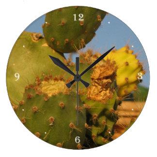 Relógio Grande Pulso de disparo de parede da fotografia do cacto