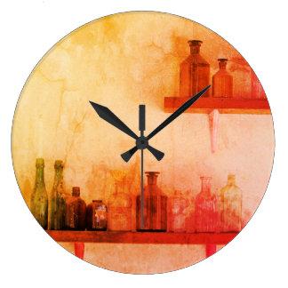 Relógio Grande PULSO DE DISPARO de PAREDE da garrafa do vintage