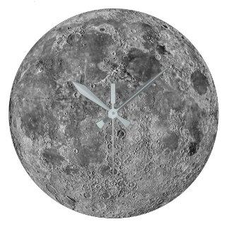 Relógio Grande Pulso de disparo de parede da lua