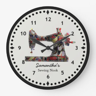 Relógio Grande Pulso de disparo de parede da máquina de costura