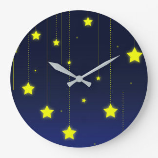 Relógio Grande Pulso de disparo de parede da noite estrelado
