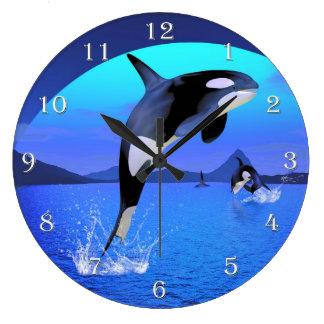 Relógio Grande Pulso de disparo de parede da orca