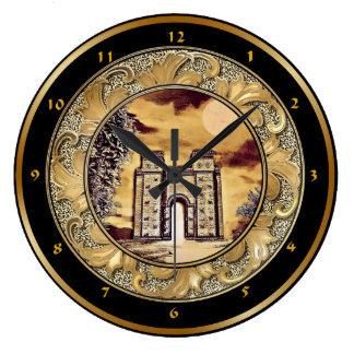 Relógio Grande Pulso de disparo de parede da porta de Babylon