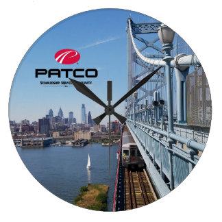 Relógio Grande Pulso de disparo de parede da skyline de PATCO