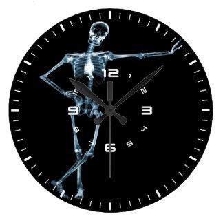 Relógio Grande pulso de disparo de parede de esqueleto do raio X