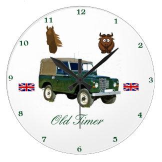 Relógio Grande Pulso de disparo de parede de Land Rover