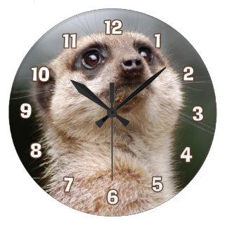 Relógio Grande Pulso de disparo de parede de Meerkat