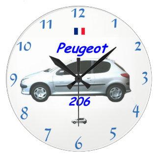 Relógio Grande Pulso de disparo de parede de Peugeot 206