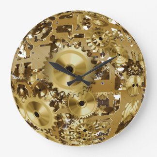 Relógio Grande Pulso de disparo de parede de Steampunk do metal