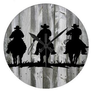 Relógio Grande Pulso de disparo de parede de três homens sábios