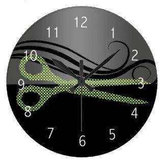 Relógio Grande pulso de disparo de parede do cabeleireiro