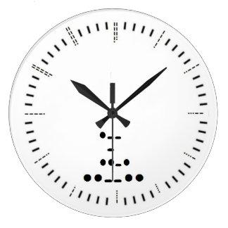 Relógio Grande Pulso de disparo de parede do código Morse