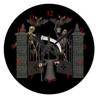 Relógio Grande Pulso de disparo de parede do Dia das Bruxas