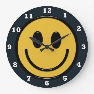 Relógio Grande Pulso de disparo de parede do Hippie do smiley