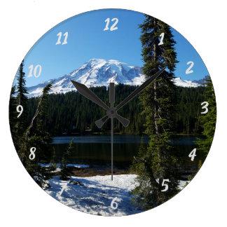 Relógio Grande Pulso de disparo de parede do Monte Rainier