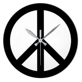 Relógio Grande Pulso de disparo de parede do sinal de paz de