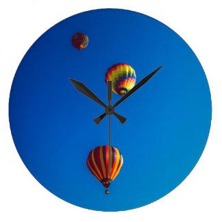 Relógio Grande Pulso de disparo de parede dos balões de ar quente