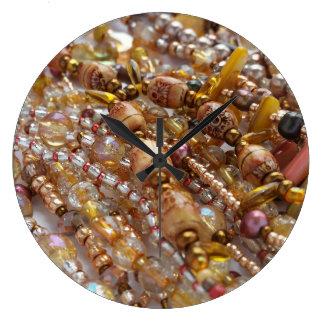 Relógio Grande Pulso de disparo de parede Earthtones natural,