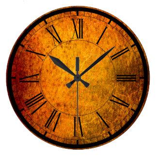 Relógio Grande Pulso de disparo de parede elegante da textura da