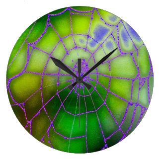 Relógio Grande Pulso de disparo de parede escuro da Web