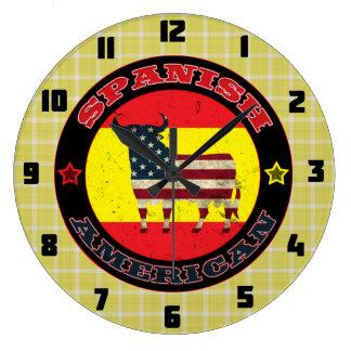 Relógio Grande Pulso de disparo de parede espanhol do design de