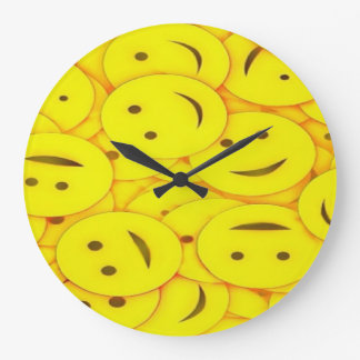 Relógio Grande Pulso de disparo de parede feliz bonito das caras