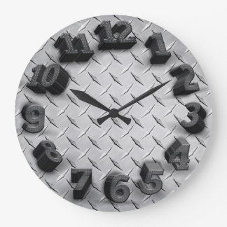 Relógio Grande pulso de disparo de parede redondo da placa 3-D do