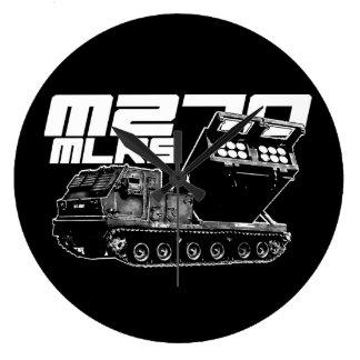 Relógio Grande Pulso de disparo de parede redondo do MLRS M270