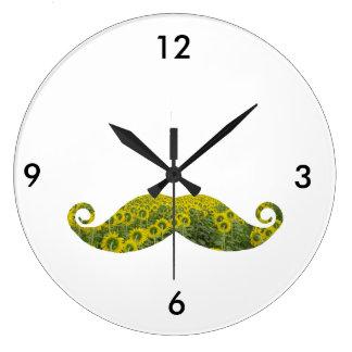 Relógio Grande Pulso de disparo de parede redondo do Moustache