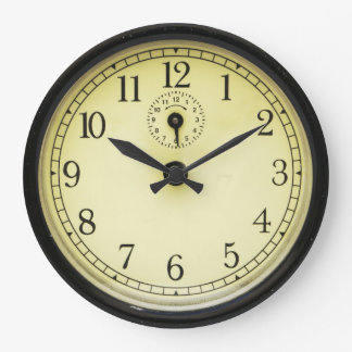 Relógio Grande Pulso de disparo de parede retro do anos 50