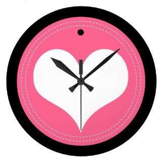 Relógio Grande Pulso de disparo de parede sewing do coração