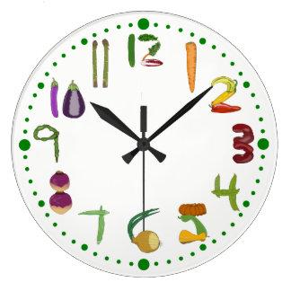 Relógio Grande Pulso de disparo de parede vegetal da cozinha para