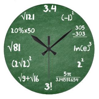 Relógio Grande Pulso de disparo de parede verde da matemática da