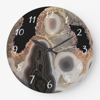 Relógio Grande Pulso de disparo de pedra de mármore da gema do